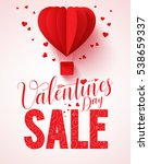 valentines day sale text vector ... | Shutterstock .eps vector #538659337