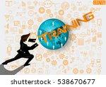 businessman release the power... | Shutterstock .eps vector #538670677