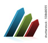 vector navigation arrows | Shutterstock .eps vector #53868055
