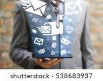 digital email marketing...   Shutterstock . vector #538683937