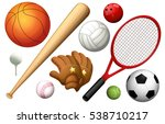 different types of sport... | Shutterstock .eps vector #538710217