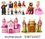 royal palace and different... | Shutterstock .eps vector #538710337