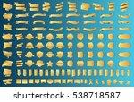 label ribbon banner gold vector ... | Shutterstock .eps vector #538718587