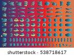 label ribbon banner blue vector ...   Shutterstock .eps vector #538718617