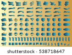 label ribbon banner blue vector ... | Shutterstock .eps vector #538718647