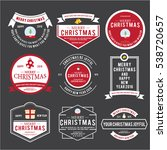 christmas emblem and label... | Shutterstock .eps vector #538720657