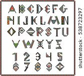 native american indian font or... | Shutterstock .eps vector #538723297