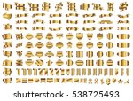 banner ribbon label gold vector ... | Shutterstock .eps vector #538725493