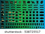 banner ribbon label black... | Shutterstock .eps vector #538725517