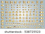 banner ribbon label gold vector ... | Shutterstock .eps vector #538725523