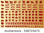 banner ribbon label red vector... | Shutterstock .eps vector #538725673