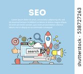 search engine optimization... | Shutterstock .eps vector #538727263