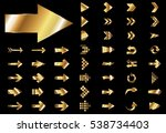 arrow vector gold curve line up ... | Shutterstock .eps vector #538734403