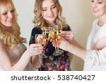 girls congratulating friend on... | Shutterstock . vector #538740427