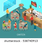food in workplace isometric... | Shutterstock . vector #538740913