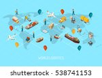international logistic company... | Shutterstock . vector #538741153