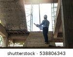 young business man construction ... | Shutterstock . vector #538806343
