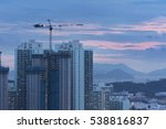 construction site at dusk | Shutterstock . vector #538816837