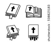 Holy Bible Book Icon Set