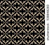 vintage abstract golden floral... | Shutterstock .eps vector #538848283