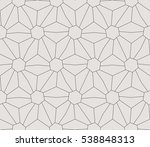 seamless linear pattern with... | Shutterstock .eps vector #538848313