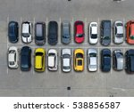 empty parking lots  aerial view. | Shutterstock . vector #538856587