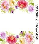 colorful watercolor flower... | Shutterstock . vector #538871563