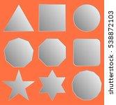 set of white paper basic... | Shutterstock .eps vector #538872103