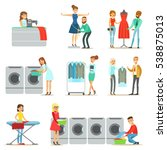 people at the laundry  dry... | Shutterstock .eps vector #538875013