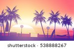 beach sunset walkway   vector... | Shutterstock .eps vector #538888267