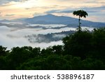 primary rainforest sunrise... | Shutterstock . vector #538896187