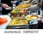 cuisine culinary buffet dinner... | Shutterstock . vector #538900747