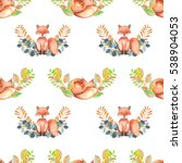 seamless pattern with... | Shutterstock . vector #538904053