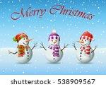 family of snowman christmas | Shutterstock . vector #538909567