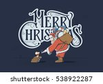 merry christmas and happy new... | Shutterstock .eps vector #538922287