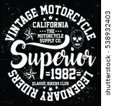 vintage motorcycle  california  ...   Shutterstock .eps vector #538932403