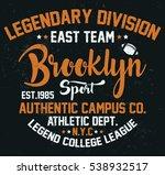 brooklyn sport  legendary... | Shutterstock .eps vector #538932517