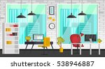set of colorful interior with ... | Shutterstock .eps vector #538946887