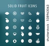 set of 25 universal solid fruit ... | Shutterstock .eps vector #538963063