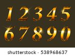 vector golden numbers.set of... | Shutterstock .eps vector #538968637