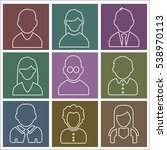 people portrait icons outline... | Shutterstock .eps vector #538970113