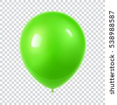 3d realistic colorful balloon.... | Shutterstock .eps vector #538988587