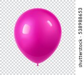 3d realistic colorful balloon.... | Shutterstock .eps vector #538988653