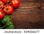 italian food background with... | Shutterstock . vector #539006677