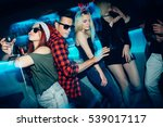 group of friends at club having ... | Shutterstock . vector #539017117