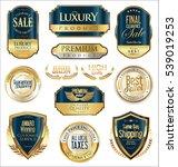 premium and luxury golden retro ... | Shutterstock .eps vector #539019253