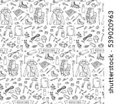 seamless pattern hand drawn... | Shutterstock .eps vector #539020963