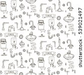 seamless pattern hand drawn... | Shutterstock .eps vector #539021497
