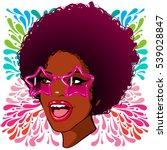 vector illustration afro woman... | Shutterstock .eps vector #539028847