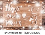multicolor wood inscription... | Shutterstock . vector #539035207